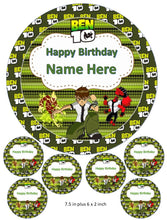 Ben 10 Cake and Cupcake Toppers, Gwen, Vilgax, Personalised, Birthday, Julie