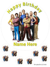 Personalised Big Bang Theory cake and Cupcake toppers