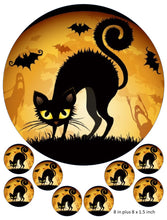 Black Cat Cake and Cupcake Toppers, Halloween, Bats, Ghosts, Party