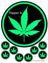 Cannabis Leaf Cake and Cupcake Toppers, Joint, Bud, Birthday, Weed, Marijuana