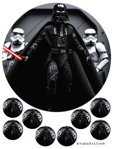 Darth Vader Cake and Cupcake Toppers, Star Wars,  Storm Trooper, Luke, Hans Solo, Princess, Light Saber