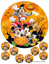 Disney Cake and Cupcake Toppers, Halloween, Pumpkin, Mickey, Minnie, Donald Duck