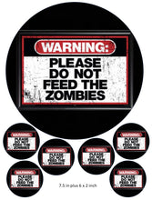 Do Not Feed The Zombies Cake and Cupcake Toppers, Halloween, Birthdays, Horror