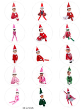 Christmas Elf Cake and Cupcake toppers, Naughty Elf, Elf on the shelf, Santa, Xmas