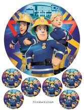 Fireman Sam cake and cupcake toppers, Birthday, Children's Party, Elvis