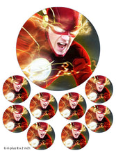 The Flash Cake and Cupcake Toppers, Aqua man, Wonder woman, Justice league, DC Comics