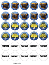 Fortnite Cupcake Toppers, Birthday, Gaming, Xbox , PlayStation, Chest
