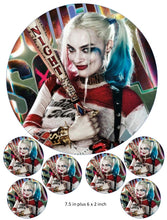 Harley Quinn Cake and Cupcake Toppers, Joker, Batman, Suicide Squad, DC Comics