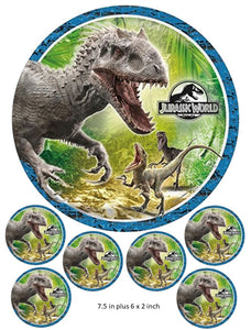 Jurassic World cake and Cupcake Topper, Dinosaurs