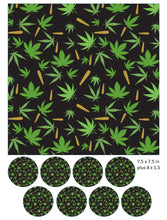 Cannabis Leaf and Joint Cake and Cupcake Toppers, Bud, Birthday, Weed, Marijuana