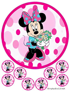 Minnie Mouse Cake and cupcake, Disney, Birthdays, Clubhouse, Pink, Mickey Mouse