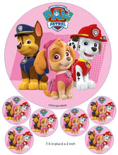 Paw Patrol Cake and Cupcake Topper, Marshall, Skye, Chase, Zuma, Rocky, Rubble