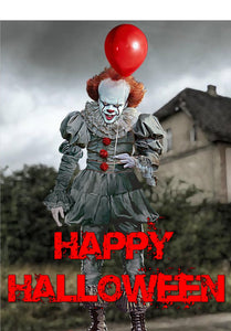 Pennywise Cake and Cupcake Toppers, Personalised, Halloween, Birthdays, IT