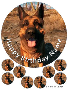 Dog Meat Cake and Cupcake Toppers, Fallout, Gaming, Xbox, PlayStation, Power Armour, Personalised