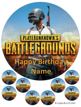 Player Unknown Cake and Cupcake Toppers, Personalised,  Birthdays, Gaming, Xbox, PlayStation, PC