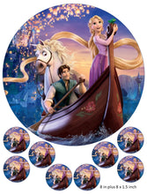 Tangled Cake and Cupcake Toppers, Rapunzel, Disney, Flynn Rider, Maximus