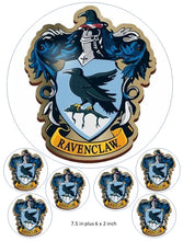 Ravenclaw Cake and Cupcake Toppers, Hogwarts , Gryffindor, Harry Potter,  Shield