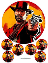 RDR2 IM2 Cake and Cupcake Toppers, Cowboy, Gaming, Xbox, PlayStation, PC Gaming