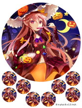 Anime Halloween Cake and Cupcake Toppers, Witch, Japanese, Birthdays, Candy