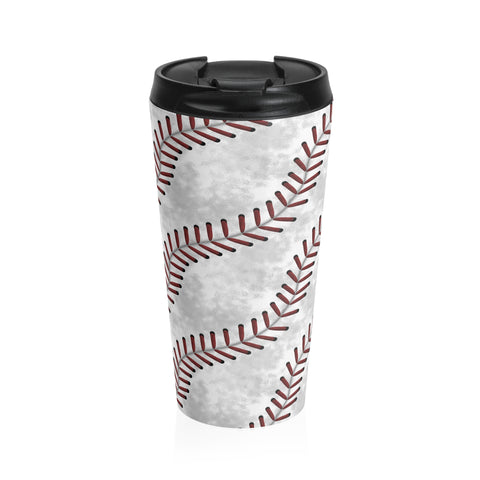 Baseball Stitches Stainless Steel Travel Mug