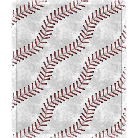 Baseball Stitches Woven Throw