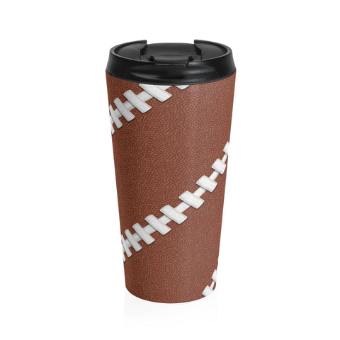 Football Stitch Stainless Steel Travel Mug