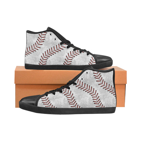 Childrens High Top Baseball Stitch Shoe