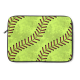 Softball Stitches Laptop Sleeve