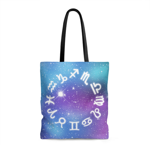 Galaxy Zodiac Tote Bag