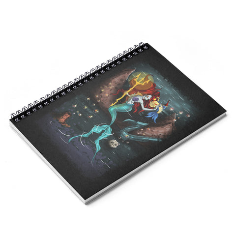 Manic Mermaid Spiral Notebook - Ruled Line