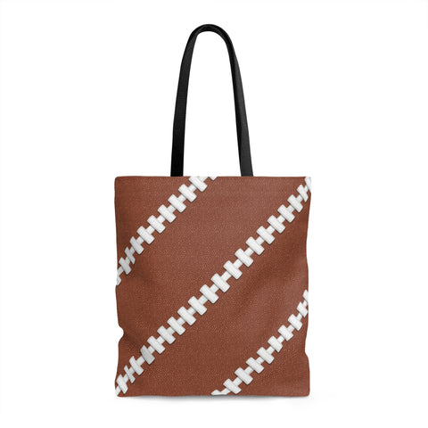 Football Stitches Tote Bag