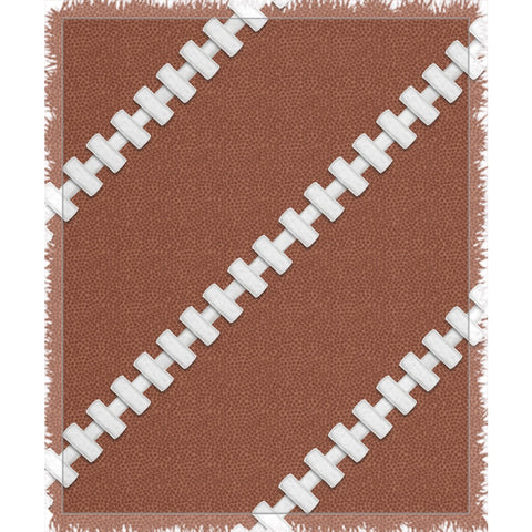 Football Stitches Woven Throw