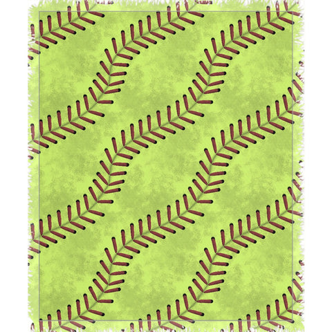 Softball Stitches Woven Throw