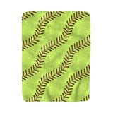 Softball Stitches Sherpa Fleece Blanket