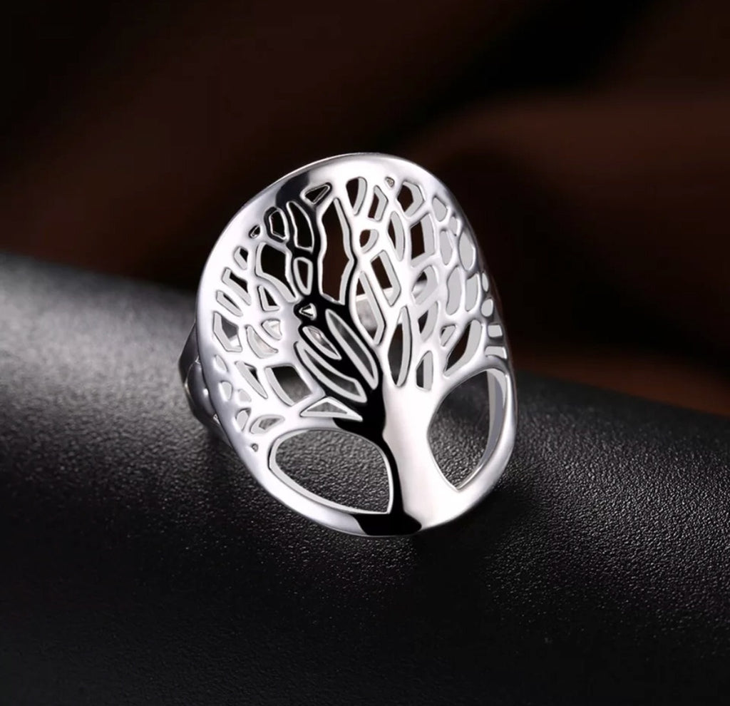 Beautiful Silver Tree of Life Ring