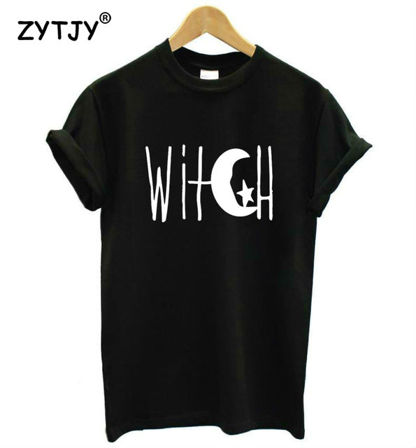 WITCH! Crescent Moon and Star Print Women's Tee
