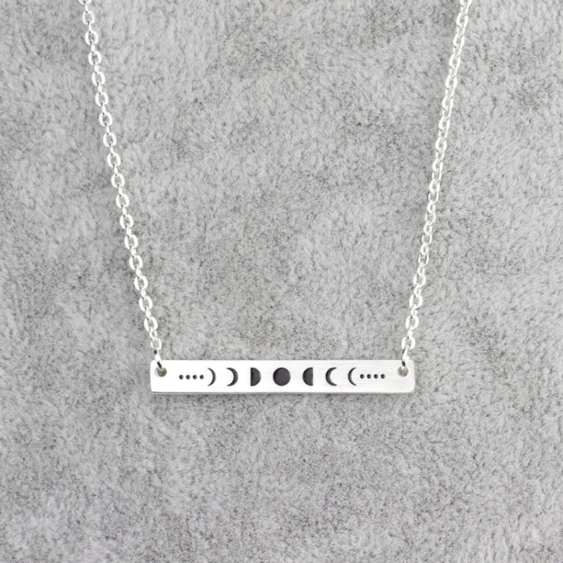 Gorgeous Lunar Moon Phases Astronomy Necklace