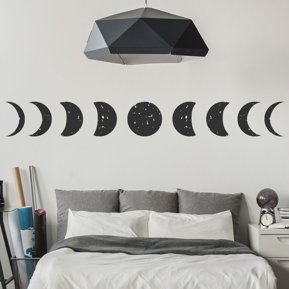 Moon Planets And Space Wall Stickers All Phases Wallpaper Home Decor Art Decals Available In Different Sizes Wall art