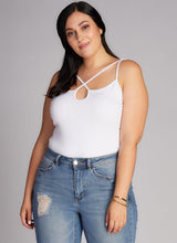BAMBOO PLUS SIZE CROSS FRONT CAMI