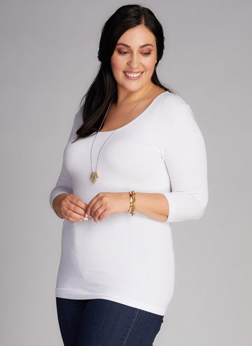 BAMBOO Plus Size 3/4 SLEEVE TOP