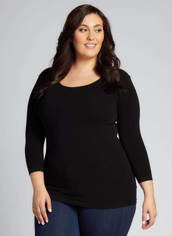 Plus Size 3/4 SLEEVE TOP