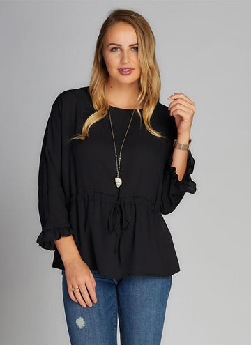 Chiffon Top w/tie Front