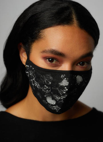 Lace Pattern Three Layer Face Mask