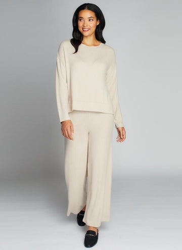 Rayon Soft Knit Wide Pants