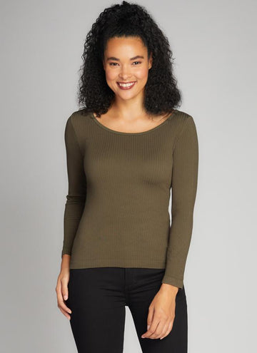 Seamless Rib Crew Neck Top