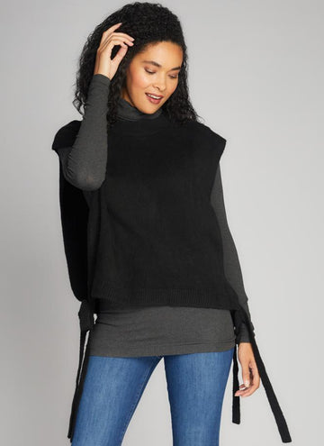 Tie Side Open Sweater