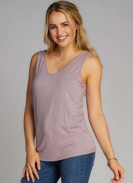 Bamboo Double V Neck Top