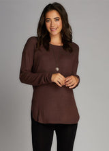 Rayon Soft Knit Crew Neck Top