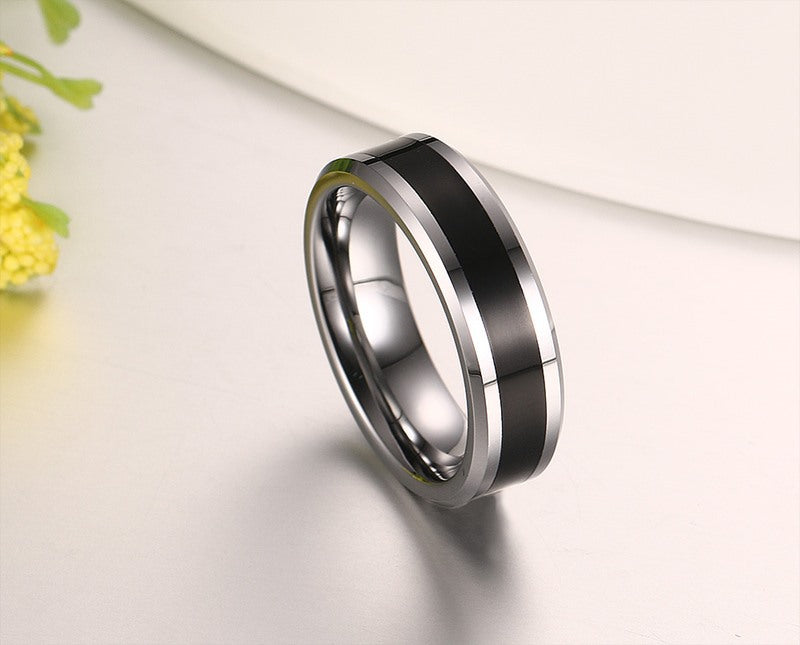 rare new high polished tungsten mens wedding - Tungsten Mens Wedding Ring