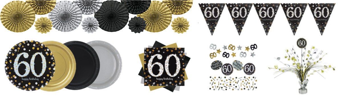 Our Gold Celebration 60th Birthday Party Tableware Has Everything You Need To Dress Your Table Cups Plates Tablecloths Napkins And Centerpieces As